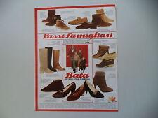 advertising Pubblicità 1980 SCARPE BATA