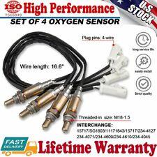 4Pcs O2 Oxygen Sensor Down&Upstream For 1997-2011 Ford F150 E150 4.2L V8 Lincoln