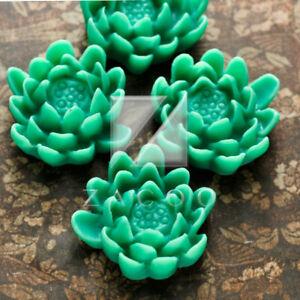 4/16pcs Resin Flatback Cabochon Cameo Flower Embellishment Lotus 22.5x20.5x9mm