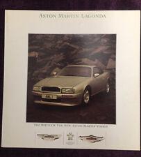 Aston Martin Virage Brochure 1988 - VERY GOOD CONDITION