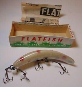 Vintage 1960s Helin Flatfish Musky Fishing Lure In Original Box Detroit Michigan
