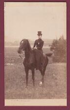 PHOTO 230115 anonyme - Henriette DURAND à cheval - Superbe photo hippique