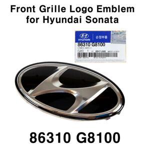 New OEM 86310 G8100 Front Grille Logo Emblem Badge for Hyundai Sonata 2018-2019