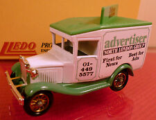 LLEDO DAYS GONE: NORTH LONDON ADVERTISER: FORD VAN: MINT BOXED DIECAST MODEL