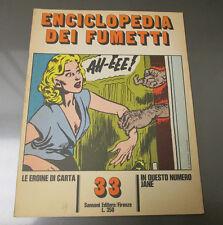 1970 ENCICLOPEDIA DEI FUMETTI Italian Comic Cartoon Magazine 20 pgs #33 FVF