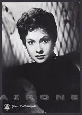 GINA LOLLOBRIGIDA 24 ATTRICE ACTRESS CINEMA MOVIE STAR PEOPLE Cartolina FOTOGR.