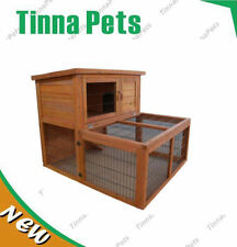 Rabbit Hutch Large Double Story Chook House Cage with RUN T023 975 * 555* 875 mm
