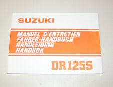 Betriebsanleitung Suzuki DR 125 S - Stand 1982!