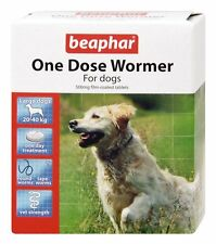 Beaphar One Dose Wormer Tablet Worming for Large Dogs Pack of 2