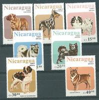 NICARAGUA - DOGS Yvert # 1170/1 + A 1195/9 Complete Set MNH VF