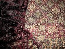 """Luxury Designer Tapestry Runner Merlot Hunter 8"""" Fringe Stunning!"""