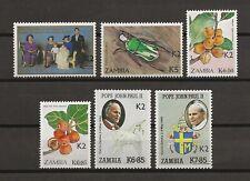 ZAMBIA 1991 SG 673/8 MNH Cat £248