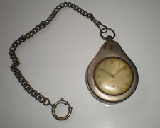 Antique Zeppelin pocket watch with metal case and antique chain for collectors