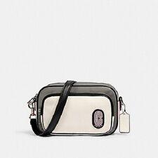 Coach Colorblock Nylon Court Sport Crossbody Handbag Multi Color #91158