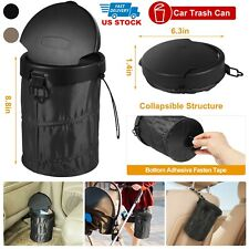 Portable Car Trash Can Garbage Bin Bag Organizer for Vehicles Leak Proof w/Cover
