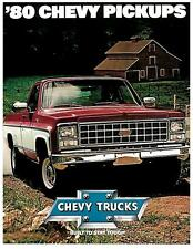 1980 Chevrolet Pickup Factory Brochure-16 pages-Chevy C20 Silverado Fleetside