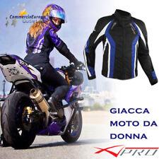 GIACCA DONNA DA MOTO A-PRO LUNA LADY IN TESSUTO CON PROTEZIONI BLACK BLUE BIKE