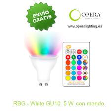 Bombilla LED 5 w GU10 con mando RGB-W