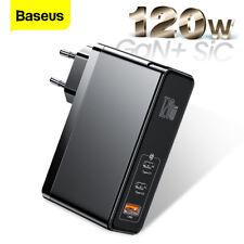 120W GaN SiC USB C Quick Charge 4.0 3.0 QC Type C PD For Macbook Pro iPad iPhone