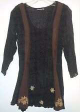 EUC Wednesday's Child Sheer Embroidered Tunic Size Small