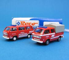 ROCO h0 2050 Set bus vw t3 + t3 Doka profession-Pompiers Salzbourg Camionnette HO 1:87 NEUF dans sa boîte