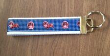Pekinese wristlet key fob holder key chain Zipper Pull