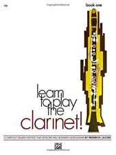 Learn To Play The Clarinet! Book One-1-Music Book-Brand New On Sale-Band Method!  00002000