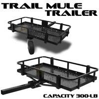 "ATV UTV Trail Mule Trailer Garden Lawn Hunting Fishing Camping Folding 2"" Hitch"
