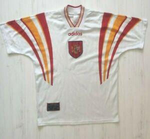 Spain 1996 1997 1998 Jersey Thirt Football Shirt Adidas Size M