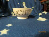 Rae Dunn NAMASTE Cereal Bowl - BLUE -  Ceramic New