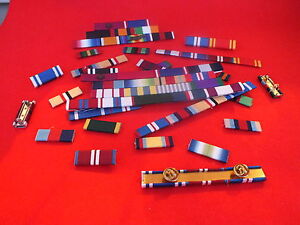 MEDAL RIBBON BAR - 11 SPACE FULL SIZE - PINNED or STUDDED or SEWN