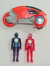 Vintage 80s Tomy Tron Action Figures Sark and Flynn with Disks and Light Cycle