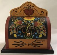 Hand Painted Bread Box