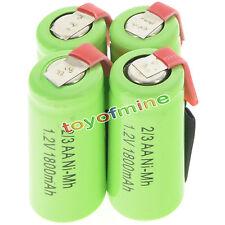 4 pezzi 2/3AA 1.2V 1800mAh Ni-MH ricaricabile batteria