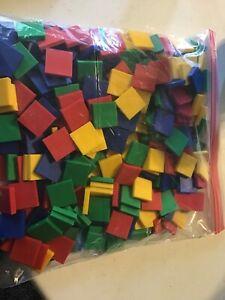 Lot 300 Plastic Geometric Pattern Shape Math Manipulatives Crafts Tiles Square