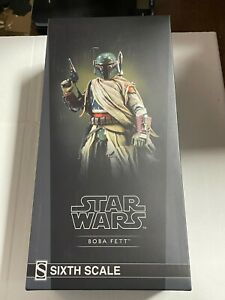 Sideshow Star Wars Mythos BOBA FETT 1/6 Scale Figure w/ Brown Shipper Box