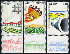 Israel 860-862 tabs, MNH. Settlements of Hevel Ha-Besor, Arava, Gaza Strip, 1984