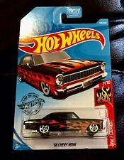 🏁 Hot Wheels '66 Black Chevy Nova - HW Flames 🏁