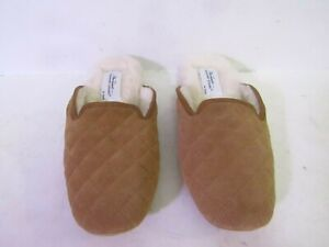 VERMONT COUNTRY STORE Leather Shearling Slippers US 8