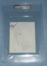 Sara Jean Underwood Signed 2007 Benchwarmer Original Sketch 4x5 Card PSA/DNA COA