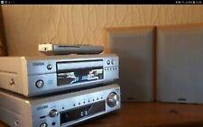 DENON DRA-F101 AND DENON DCD-F101 CD PLAYER AMPLIFIER RECEIVER REMOTE + SPEAKERS