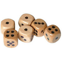 Set Of 6 Wooden Dice Board Games Bar Party Toy Kids Family Games Set D6 16mm