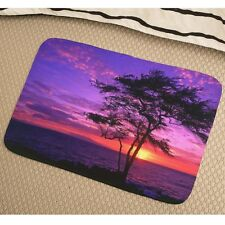 Tree Sunset Soft Absorbent Foam Non-slip Bathmat Bedroom Rug y41 y0193