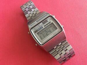 Vintage Seiko LCD_Early Alarm Chrono_A159-5009G_Stainless_Original_Working_Nice