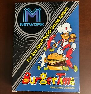 M-Network BurgerTime for Atari 2600  from Mattel Electronics no manual