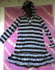 girl's Gap tunic top velour dress hoodie size brown gray  8