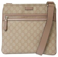 NWT GUCCI 295257 GG Supreme Crossbody Flat Messenger Bag