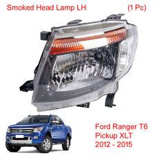 Smoked Len Head light Headlamp LH 1 Pc Fits Ford Ranger T6 Pickup XLT 2012 2015