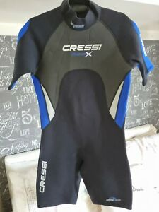 """CRESSI Med X Mens shorties wetsuit size L chest 40"""" very good condition"""