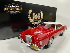 Pre-order 1/18 1974 Lincoln Continental Mark IV Red w/White Roof by BoS Models